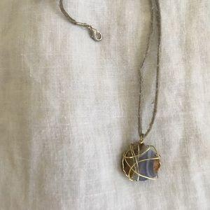 Handmade Purple Crystal Necklace